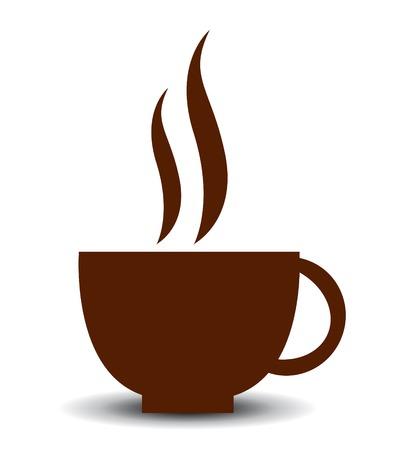 taza cafe: Icono del vector de la taza de caf�