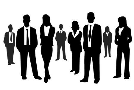 la gente: Uomini d'affari Vettoriali