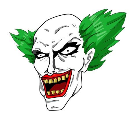 Evil clown: Evil clown head