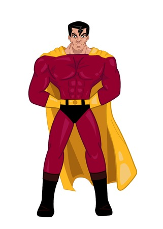 illustration of a superhero posing