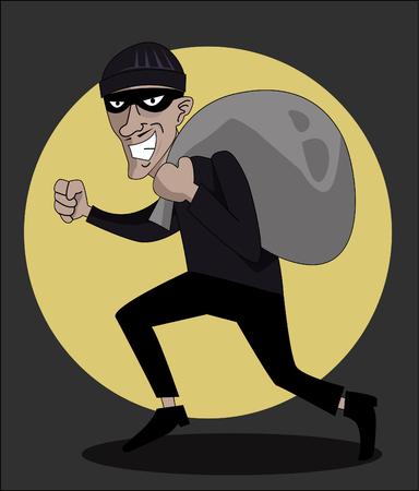 burglar man: Robber in mask