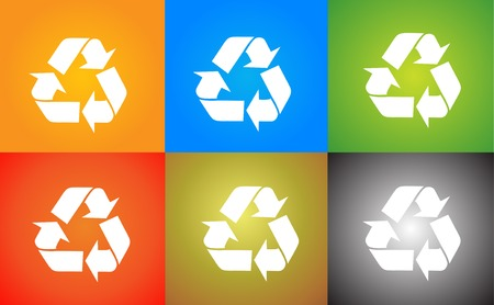 reciclar basura: Recicle el logotipo