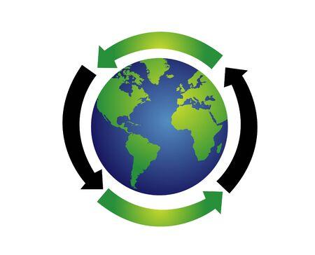 the natural world: World globe vector illustration