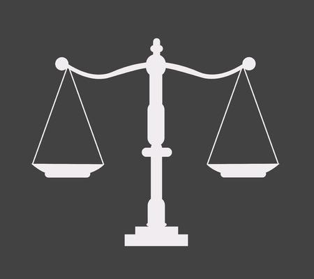 Justice scale icon Illustration