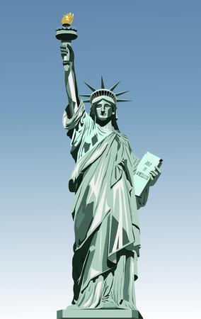 vector illustratie van het standbeeld van vrijheid