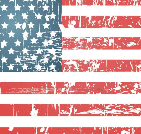 us grunge flag: American flag vintage textured background Illustration