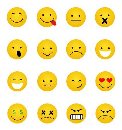 Smile iconen Stock Illustratie