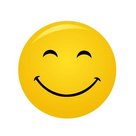현대 노란색 고 행복 미소 일러스트