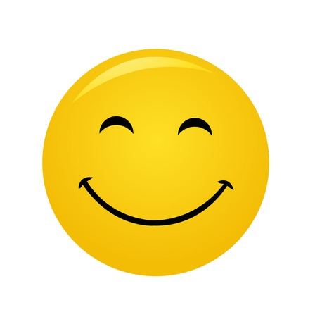 Modern yellow laughing happy smile Ilustrace
