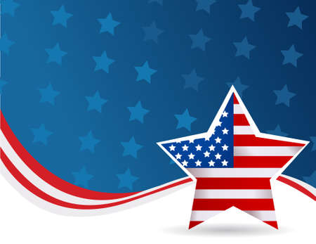 patriotic background: 4th July background Illustration