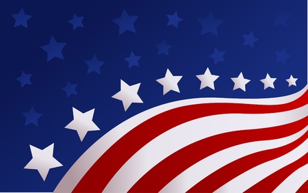 red white blue: USA flag in style vector