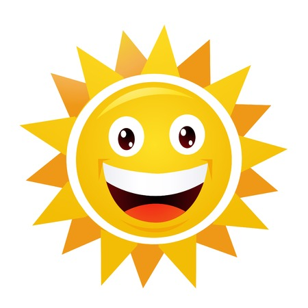 sol: Sonriendo Domingo Vectores