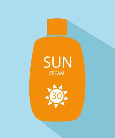 sunblock: glossy sunblock cream Illustration