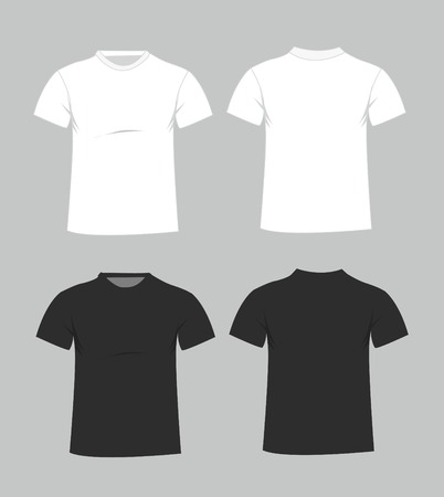 Blank t-shirt template. Front and back