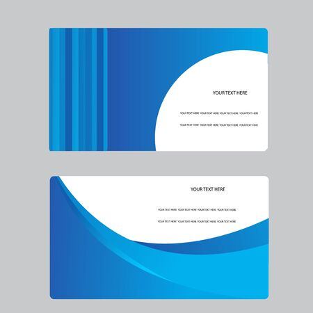 carte visite: Business Card Set. Vector illustration.