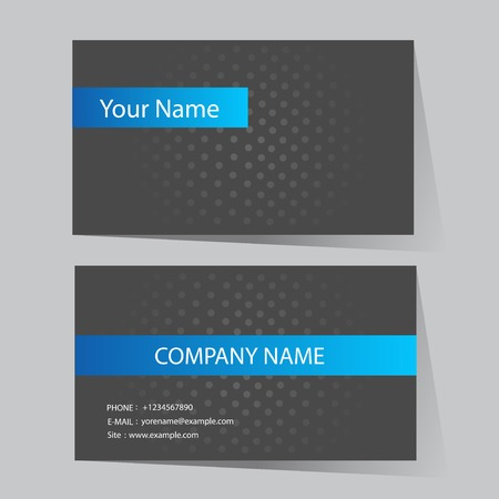 art abstract background: Business Card Set. Vector illustration.