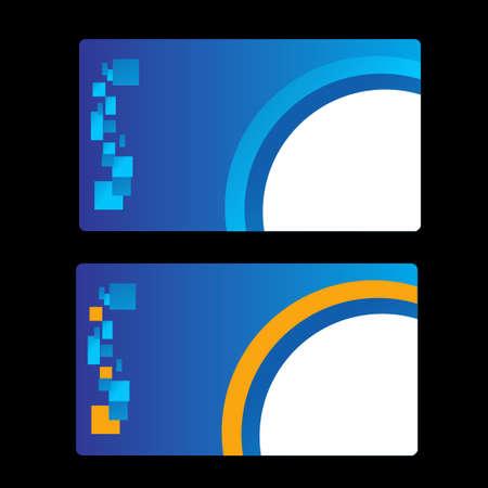namecard: Business Card Set. Vector illustration.
