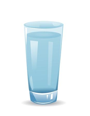 Glas met water geïsoleerd illustratie op witte achtergrond Stockfoto - 43558683