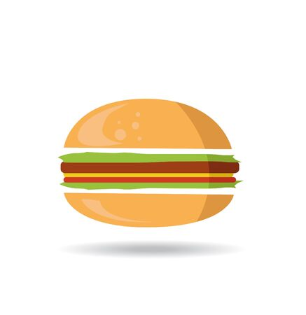 bread roll: burger symbol hamburger icon design