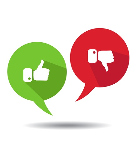 Modern Thumbs Up and Thumbs Down Icons Ilustracja