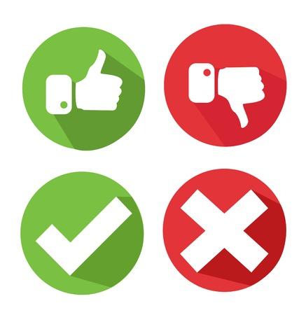 wektorowe ikony znacznik wyboru