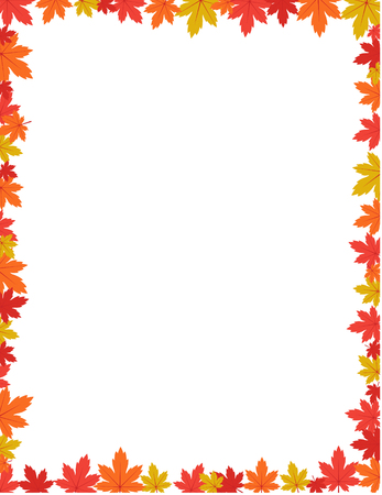 Autumn border design vector illustration Illustration