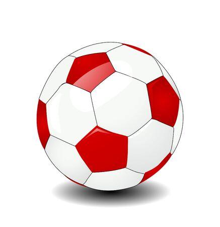 ballon foot: ballon de soccer de vecteur