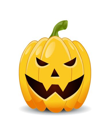 smirking: pumpkin with an evil expression on his face