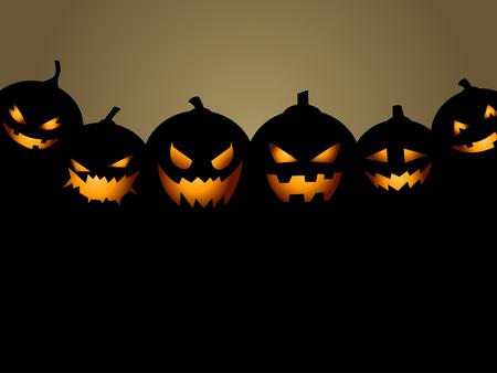 calabaza: Fondo del partido de Halloween con calabazas Vectores