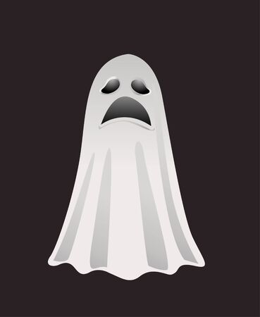 treat: Halloween ghost for design Illustration