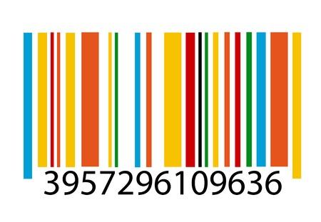 白い背景の上のバーコード画像ベクトル図