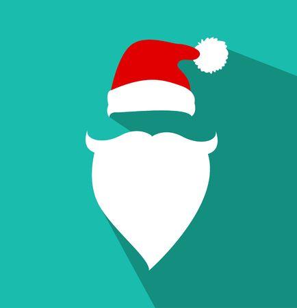 mask face: Flat Design Vector Santa Claus Face