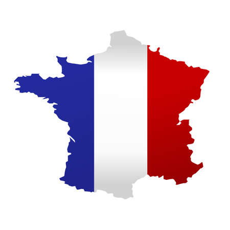 france: Map of France vector illustration on white background