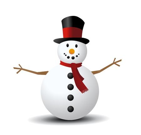 Christmas Snowman vector illustration art