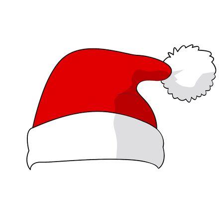 warm clothing: Santa Claus hat, vector