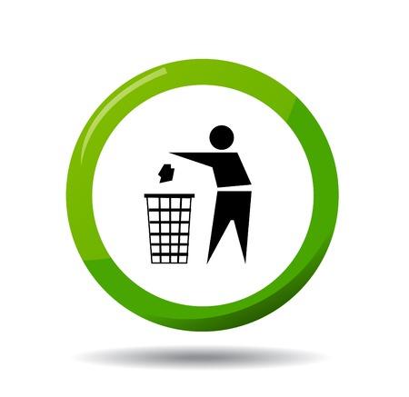 botar basura: No tire basura, signo vector Vectores