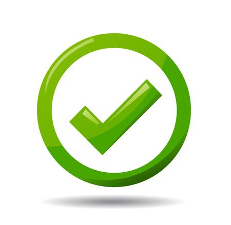 green check mark: Green check mark symbol