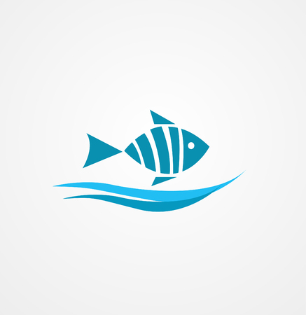fishy: fish symbol Illustration