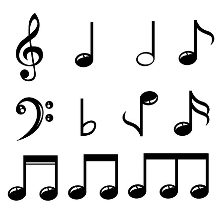 music notes vector: Set of music notes vector Illustration