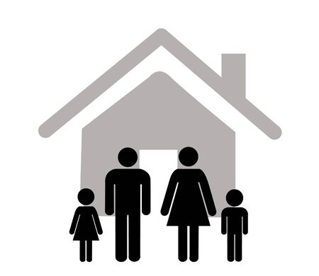 icône de famille sur fond blanc. illustration vectorielle