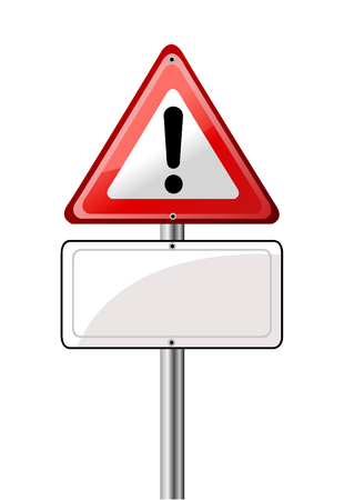 Exclamation road sign