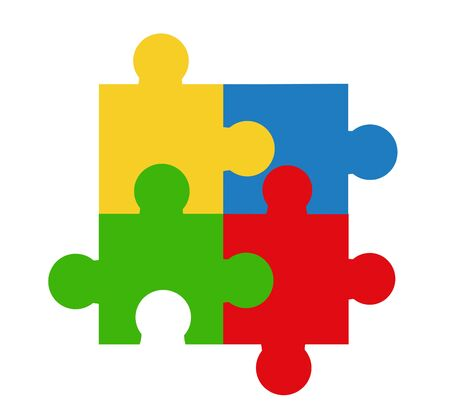 copulate: Puzzle vector illustration art on white background