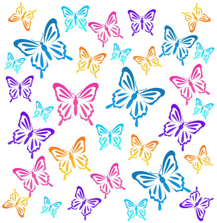 butterflys: Butterflys. Vector illustration
