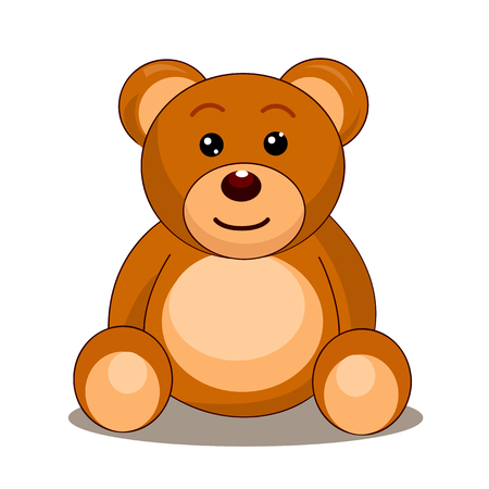 cute bear: illustration of Teddy bear