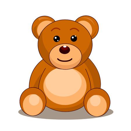 white bear: ilustraci�n de oso de peluche