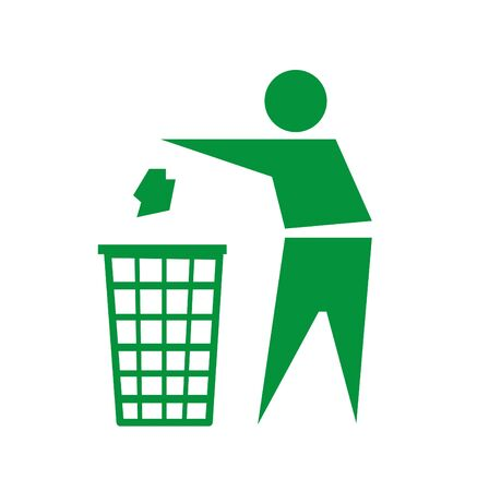 human energy: Recycling sign icon