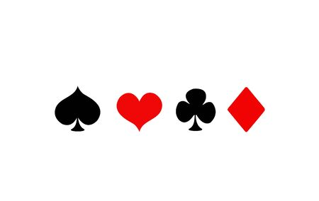 ace of spades: Vector Playing Card Suit Icon Symbol Set