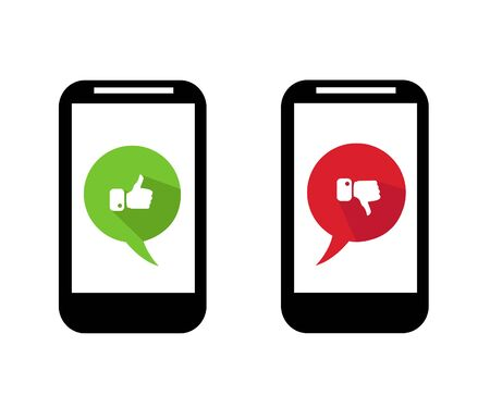 iphon: mobile icon illustration art on white