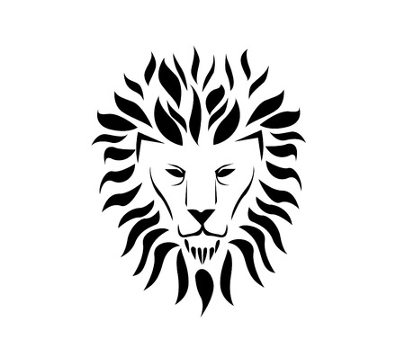 Lion face Stock Illustratie