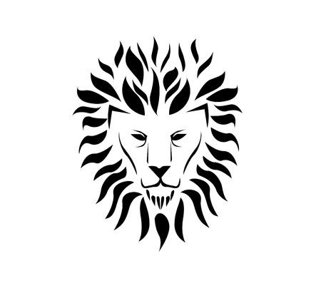 distinguished: Lion face Illustration